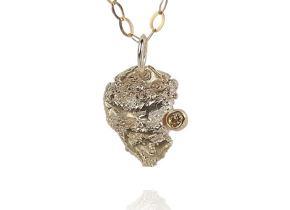 Gold and Yellow Diamond Necklace