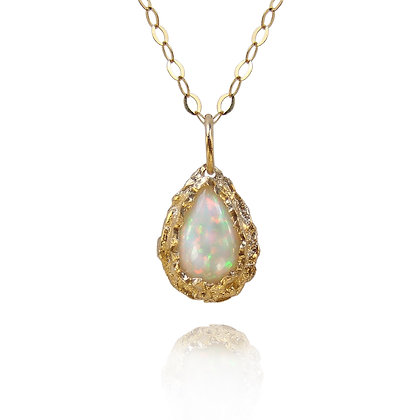 Gold and Ethiopian Opal Necklace