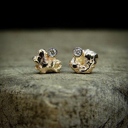 Gold and Diamond Studs