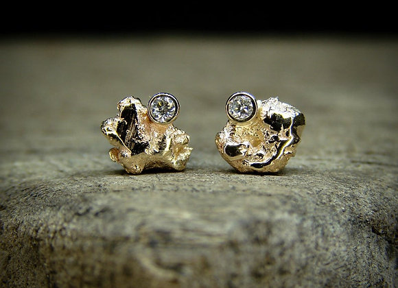 Gold and Diamond Studs