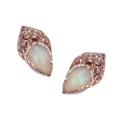 Gold and Opal Earrings