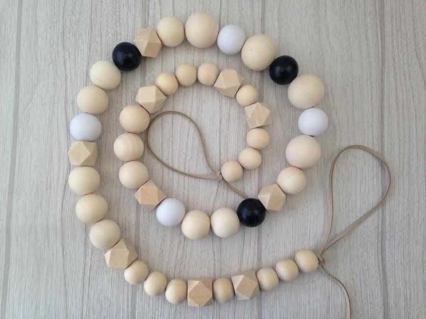 Bead Garland with random coloured beads