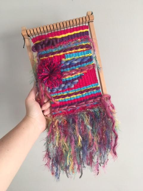 Bright coloured Weaving