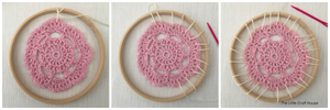 Securing your doily to the hoop