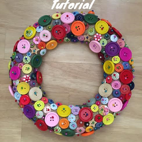 Buttons Galore! A DIY Christmas Wreath for Button Lovers!