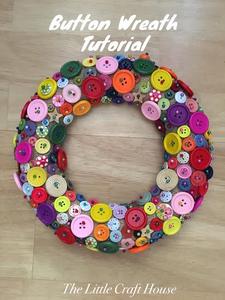 Button Wreath Tutorial