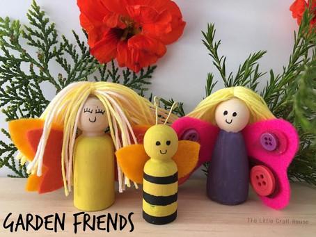 Peg People:  Garden Friends