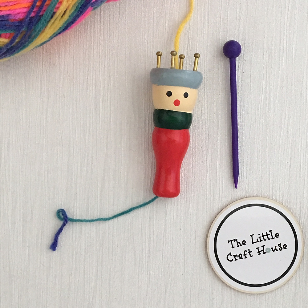 How to French Knit with a Knitting Doll