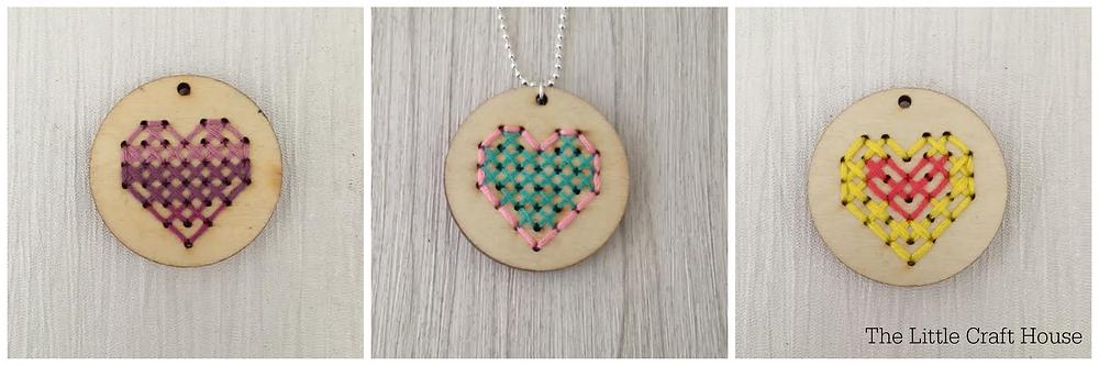 Stitch Pendant Inspiration - Hearts
