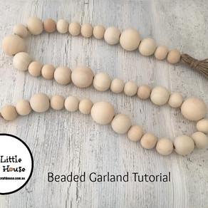 Beaded Garland with Tassel - DIY