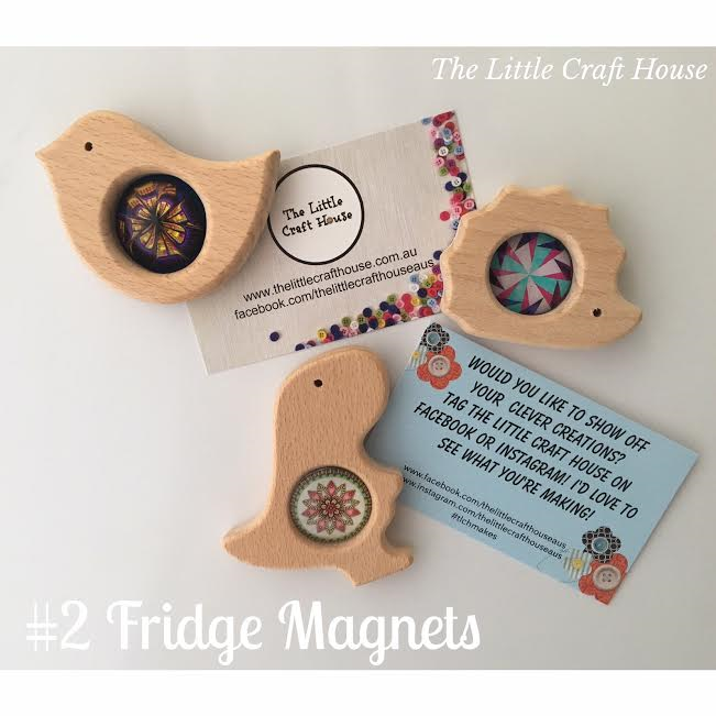 Wooden Animal Fridge Magnet