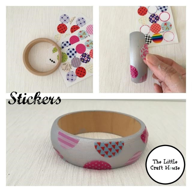 Bangle with stickers