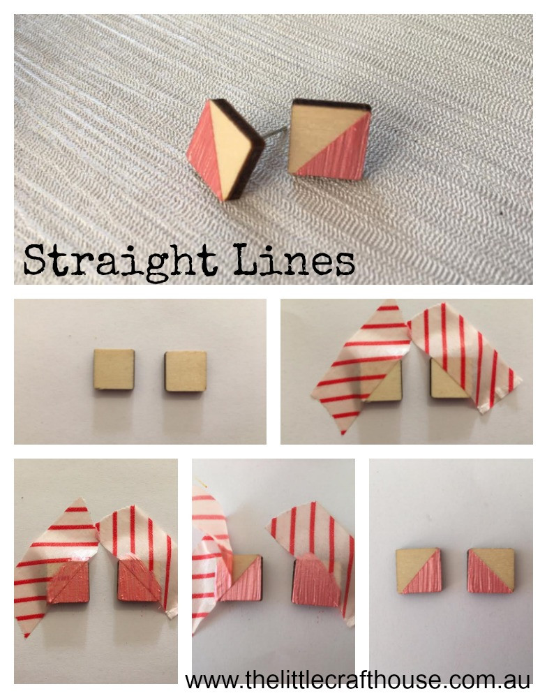 How to paint straight lines using washi-tape