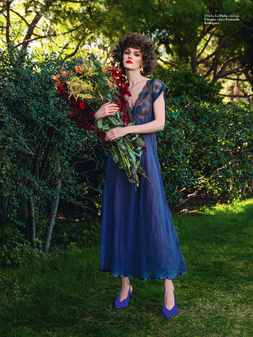 "Cover story ""Poetry in the park"" ELLE SLOVENIA"