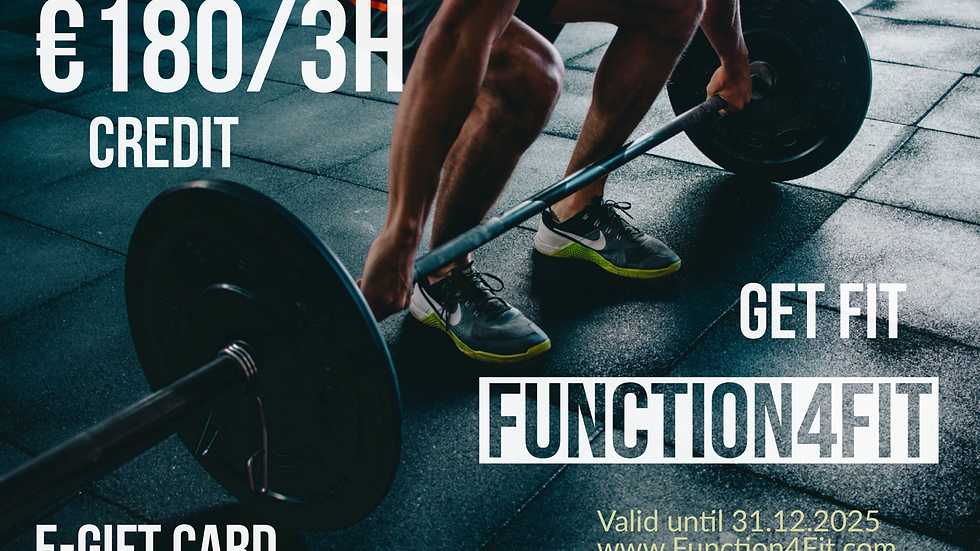 GIFT CARD FUNCTION4FIT 3 HEURES