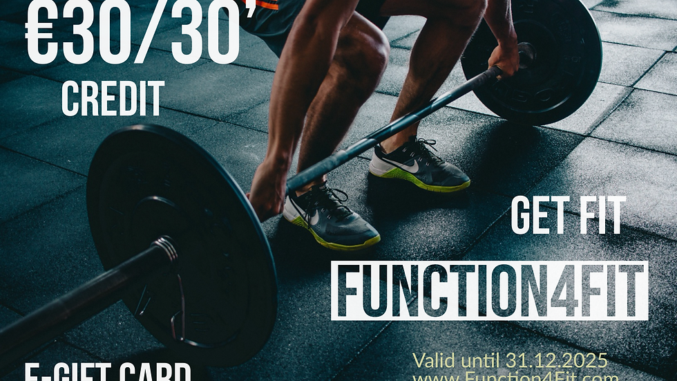 GIFT CARD FUNCTION4FIT 30 MINUTES