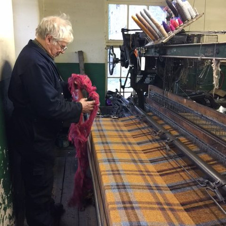 Our trip to Andrew Elliot, private independent woolen mill