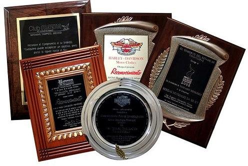 Premiaciones, Placas, Preseas, Trofeos, Medallas