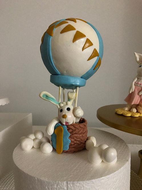 Osterhase Maxi im Fesselballon