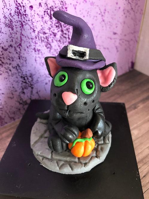 Zuckerfigur Halloween Tortendeko Hexe Katze Vampir Grusel Gespenster Kürbis