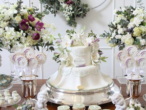 White and Lilac Christening