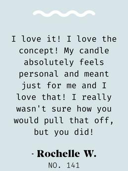 Candle Testimonial
