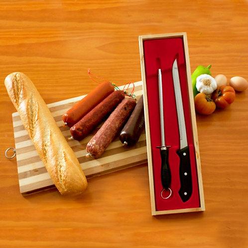 Couteau Jambon+Aiguiseur