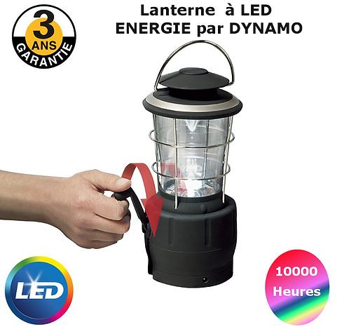 Lanterne dynamo à led