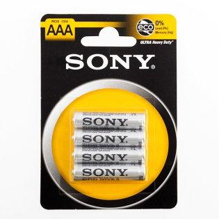 Piles Salines Ultra Sony R03 AAA d'1,5V (pack de 4