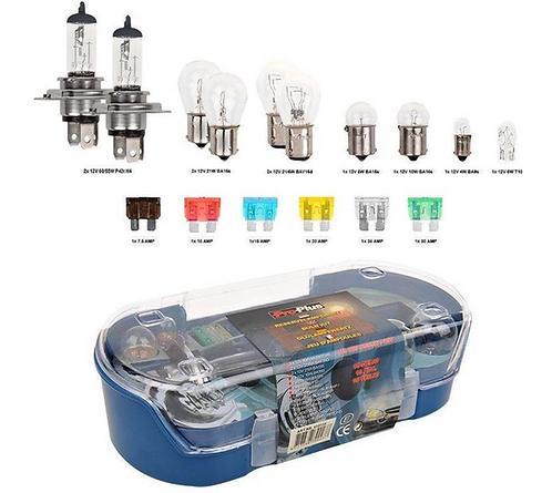 Boite d'ampoules H4+Fusibles -12 volts