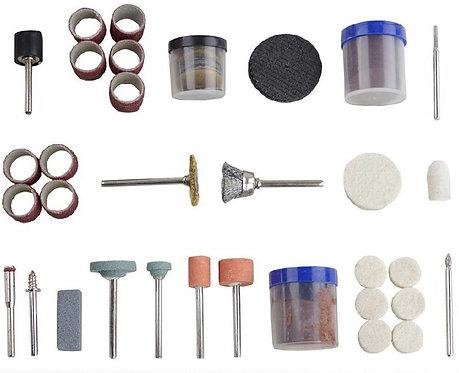 Lot accessoires compatibles Dremel rotatif 105 pièces gravure, ponçage, foret
