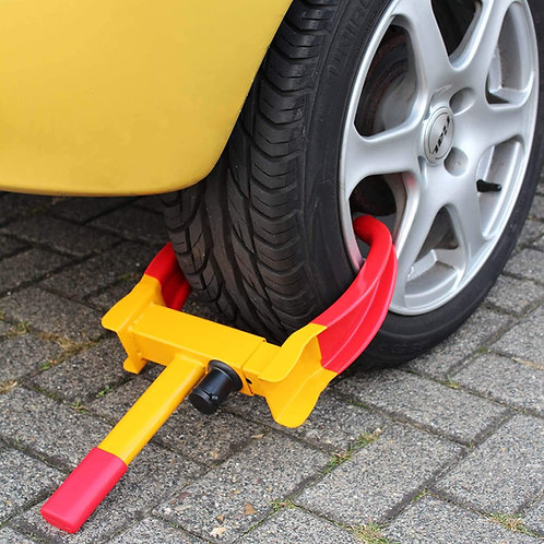Sabot de voiture Bloque roue Antivol Automobile Remorque Caravane Antidémarrage
