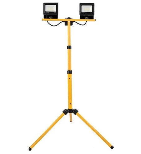 Projecteur de chantier à led sur Trépied Télescopique 2 * 20W- IP65
