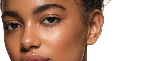 Black skin beauty young girl woman model