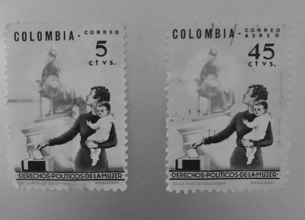 Colección Banco de la República conmemorando 60 años del voto femenino