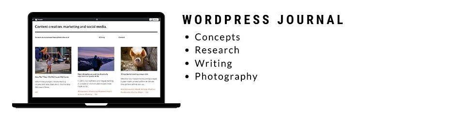Personal Project Wordpress Journal