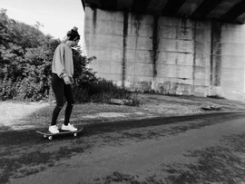 Anna Skateboarding