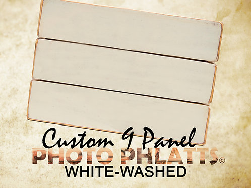 9 Panel Photo Phlatt, White-Wash, Photo on Wood