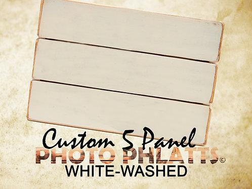 5 Panel Photo Phlatt, White-Wash, Photo on Wood