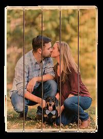5 panel photo phlatt, engagement photo on wood, anniversary gift, wedding gift, wooden wedding guestbook, custom wood photo