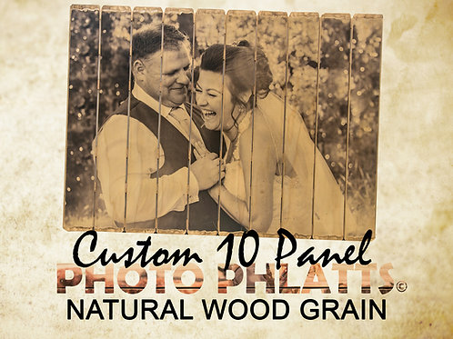 10 Panel Photo Phlatt, Natural Wood, Photo on Wood