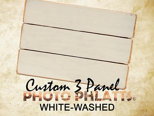 3 Panel Photo Phlatt, White-Wash, Photo on Wood