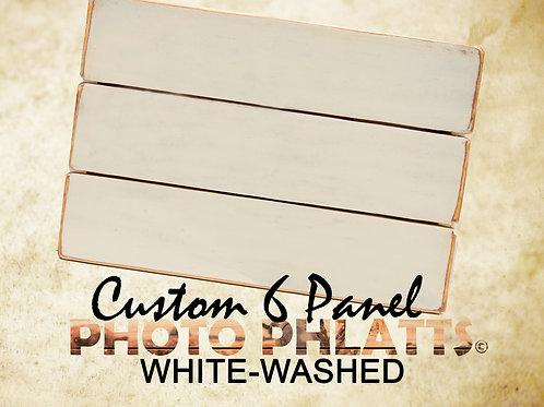 6 Panel Photo Phlatt, White-Wash, Photo on Wood