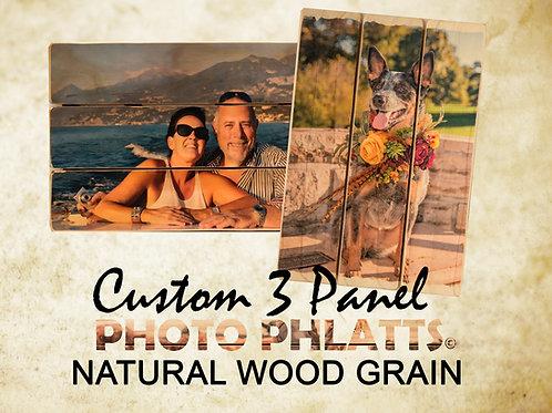 3 Panel Photo Phlatt, Natural Wood, Photo on Wood