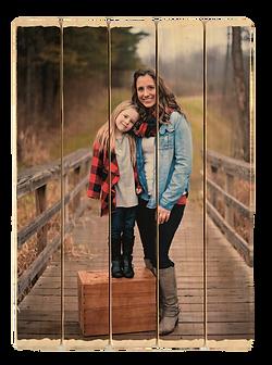 5 panel phlatt, family photo on wood, wooden photo gift, birthday gift, picture pallet, rustic photo decor