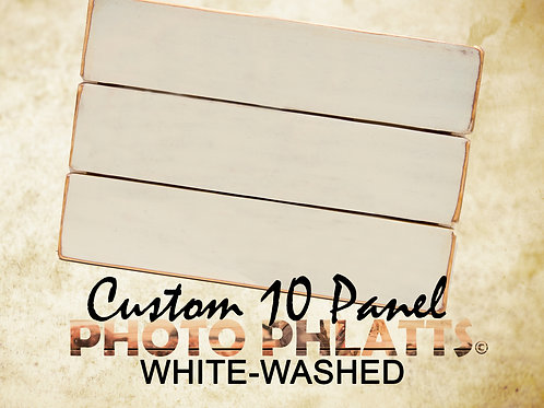 10 Panel Photo Phlatt, White-Wash, Photo on Wood