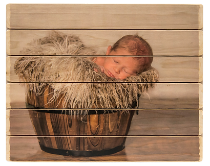 6 panel photo phlatt, photo on wood, newborn photo, custom picture on wood, gift, rustic decor, baby room decor