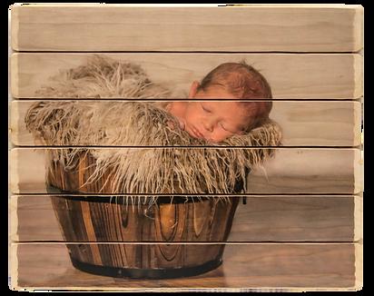 6 panel photo phlatt, photo on wood, newborn photo, custom picture on wood, gift, rustic decor, baby room decor
