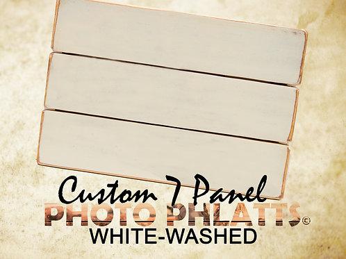 7 Panel Photo Phlatt, White-Wash, Photo on Wood