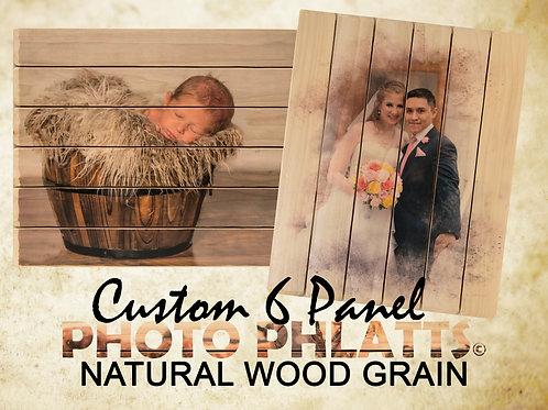 6 Panel Photo Phlatt, Natural Wood, Photo on Wood